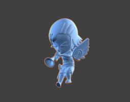 3d printable model trumpet chibi-angel