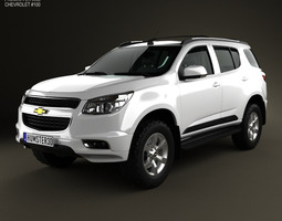 chevrolet trailblazer 2012 3d model max obj 3ds fbx c4d lwo lw lws