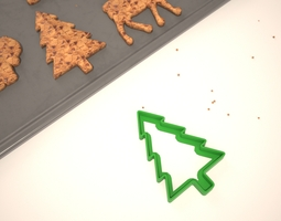 cookie mold christmas tree 3d print model