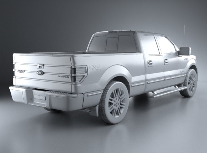 ford f 150 platinum super crew cab 2012 3d model max obj. Black Bedroom Furniture Sets. Home Design Ideas