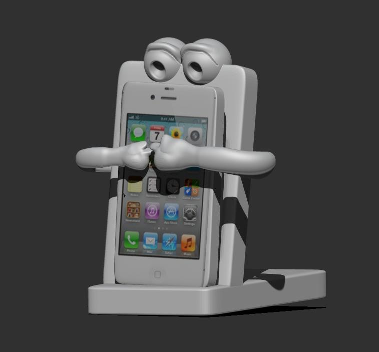 Smartphone Holder 3D Model 3D printable .stl - CGTrader.com