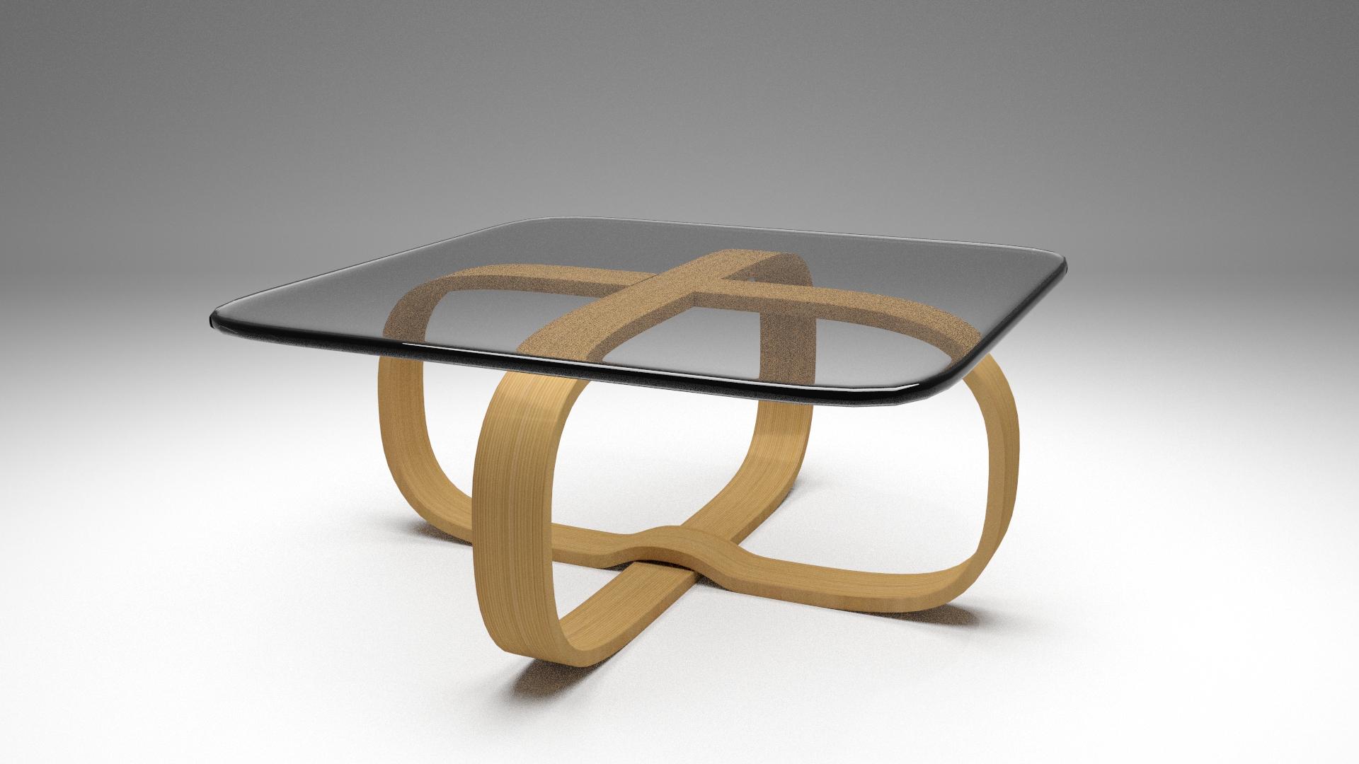 Stylized wooden table free 3d model 3ds fbx blend mtl for Table design 3d model