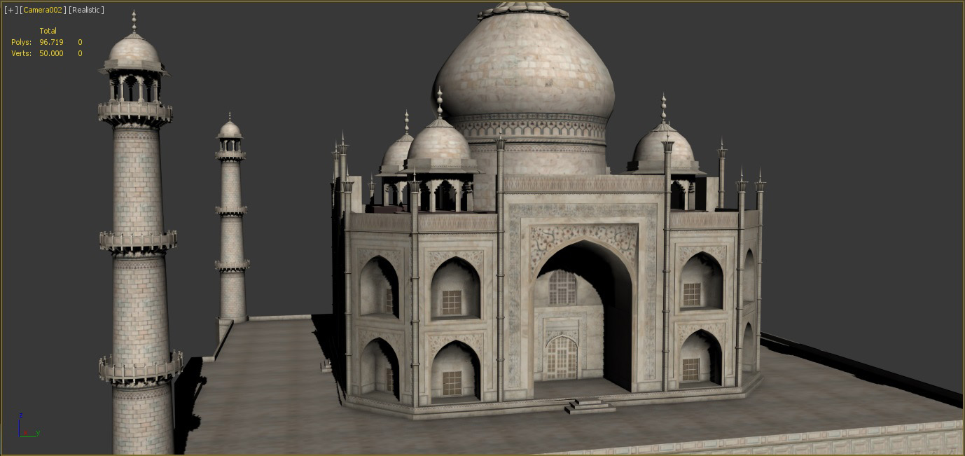 Taj Mahal 3d Image: Taj Mahal 3D Model Game Ready .max .obj .fbx