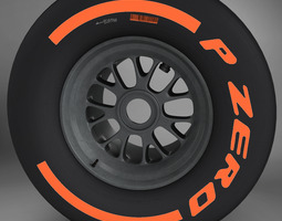 F1 tyre hard rear 3D model