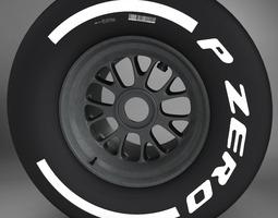 3d model f1 tyre medium rear