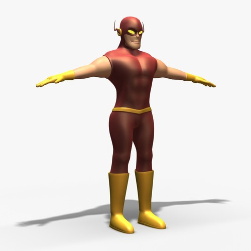 Mr Flash Non Rig3D model