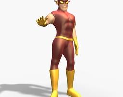 Mr Flash Rigged 3D Model
