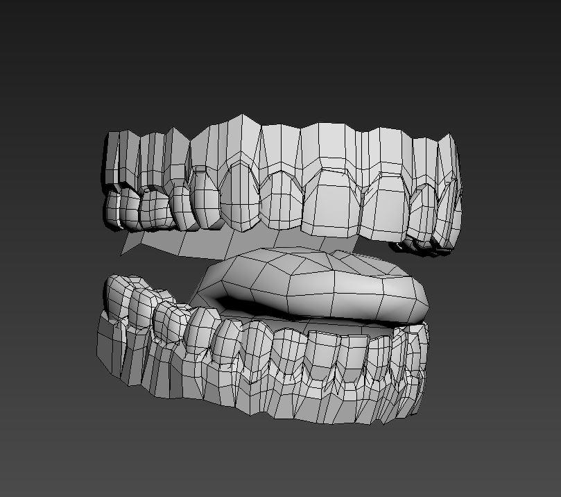 Teeth 3D Model MAX OBJ