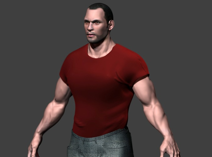 Male Character3D model