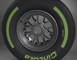 f1 tyre intermediate front 3d model