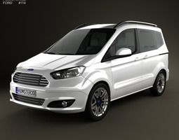 Ford Tourneo Courier 2013 3D Model