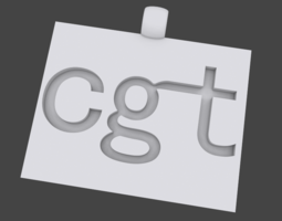 CGT Pendant 3D Model