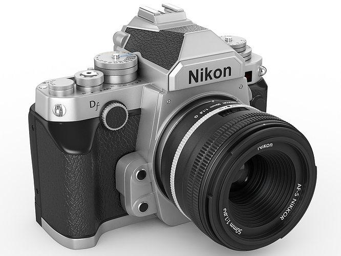 nikon df digidal camera 3d model max 3ds fbx c4d lwo lw lws hrc xsi 1
