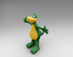 3d model rigged dinosaur cartoon character