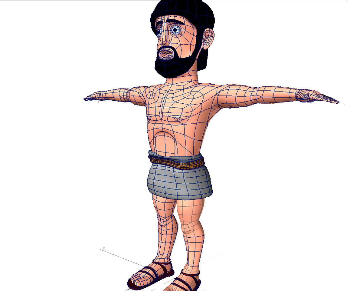 Cartoon Characters 3d Model : Odysseus cartoon character d model max obj ds fbx