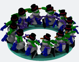 Grid_snowmen_walking_4dm8or_zoetrobe_12x_version_3d_model_obj_f2352512-0420-4a20-ab55-21c14b5aea87