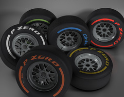 3d model f1 tire collection