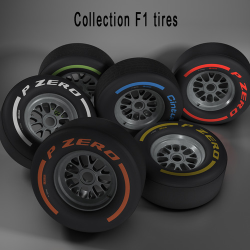 F1 tire collection3D model