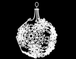 Snowflake Christmas Ornament 3D Model