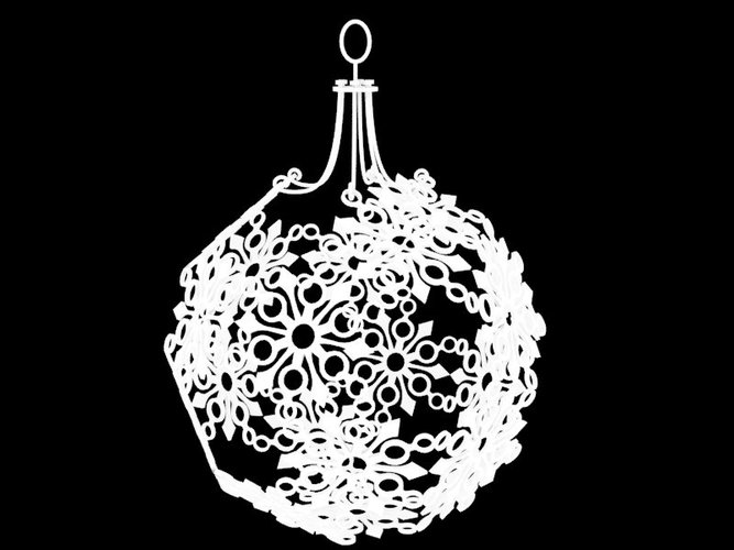Snowflake Christmas Ornament 3D Model Printable stl