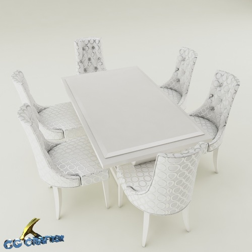 Dining table set3D model