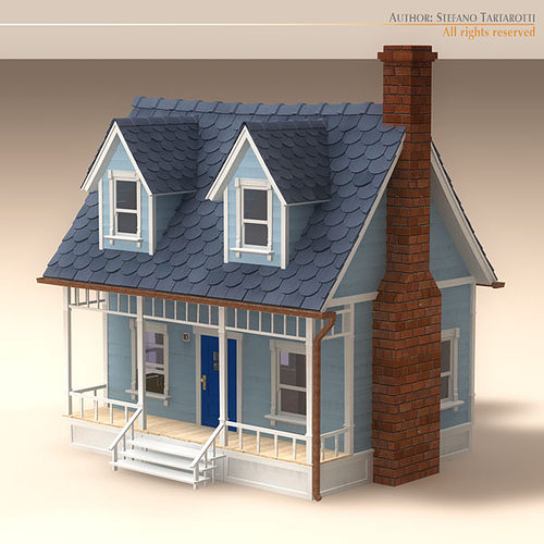 3d model cartoon house cgtrader House 3d model