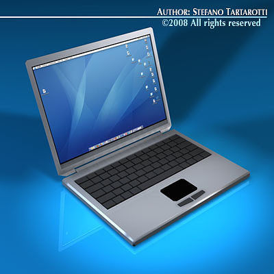 laptop 3d model obj 3ds c4d dxf 1