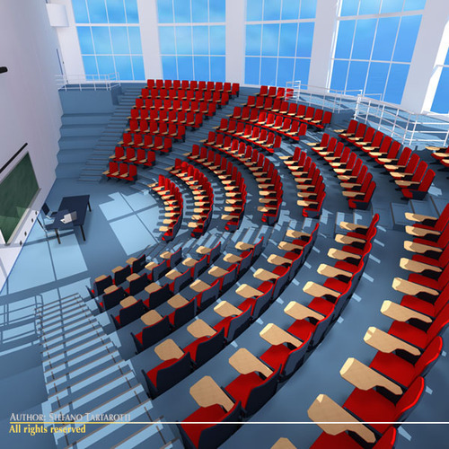 Lecture hall modern3D model
