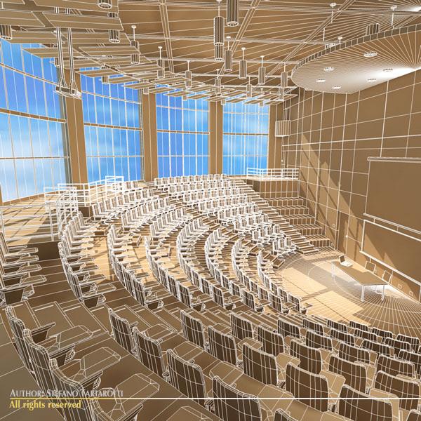 Lecture Hall Modern 3d Model Obj 3ds Fbx C4d Dxf Dae