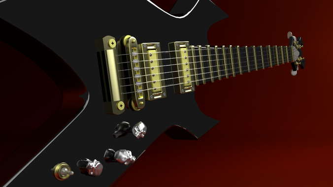 Electric Guitar3D model