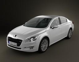 3D Peugeot 508 saloon 2011