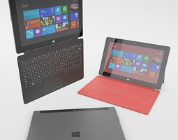 Microsoft Surface with Cover 3D Model