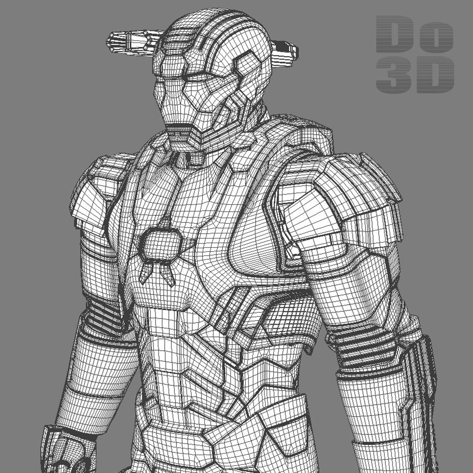 Iron Man 3 Suits - Patriot Armor Mark 39 G... 3D Model ...