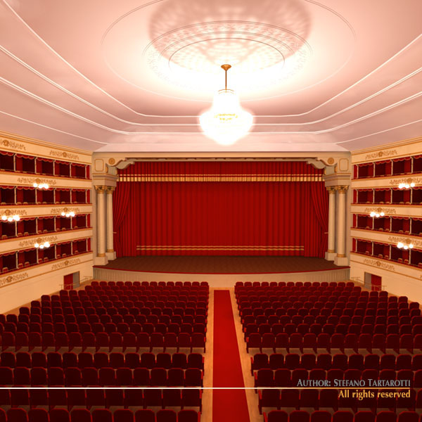 Old theatre 3d model obj 3ds c4d dxf for Theatre model