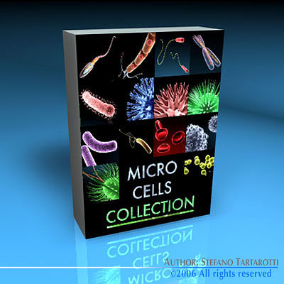 micro cells models collection 3d model obj 3ds fbx c4d dxf dae 1