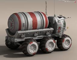 Lunar vehicle tanker 3D model