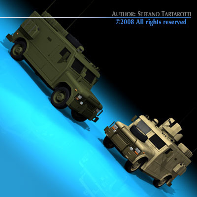 Military armored vehicle3D model