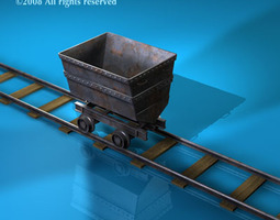 3D model Mine cart