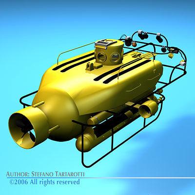 submersible 3d model obj mtl 3ds c4d dxf 1