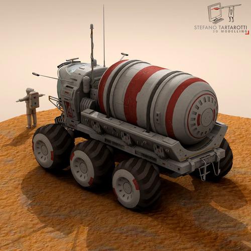 Lunar vehicles collection3D model