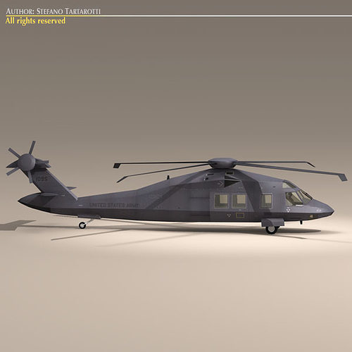 mh60 stealth blackhawk 3d model max obj mtl 3ds fbx c4d dxf 1