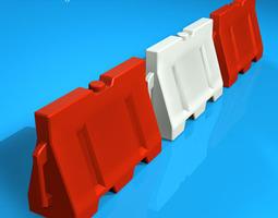 Road barrier plastic 3D