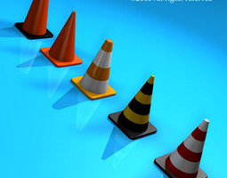 3D Road cones collection