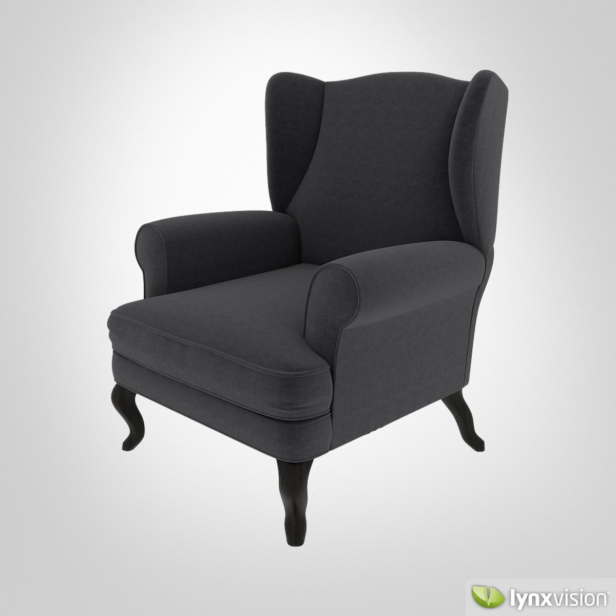 Free Upholstered Armchair Free 3D Model .max .obj .fbx
