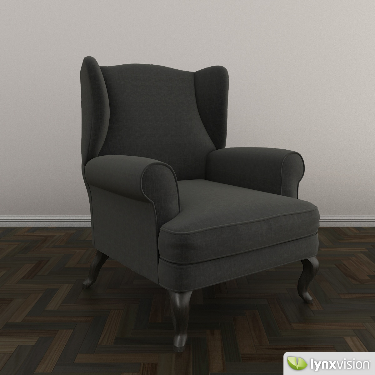 Free upholstered armchair free 3d model max obj fbx for Chair design 3ds max
