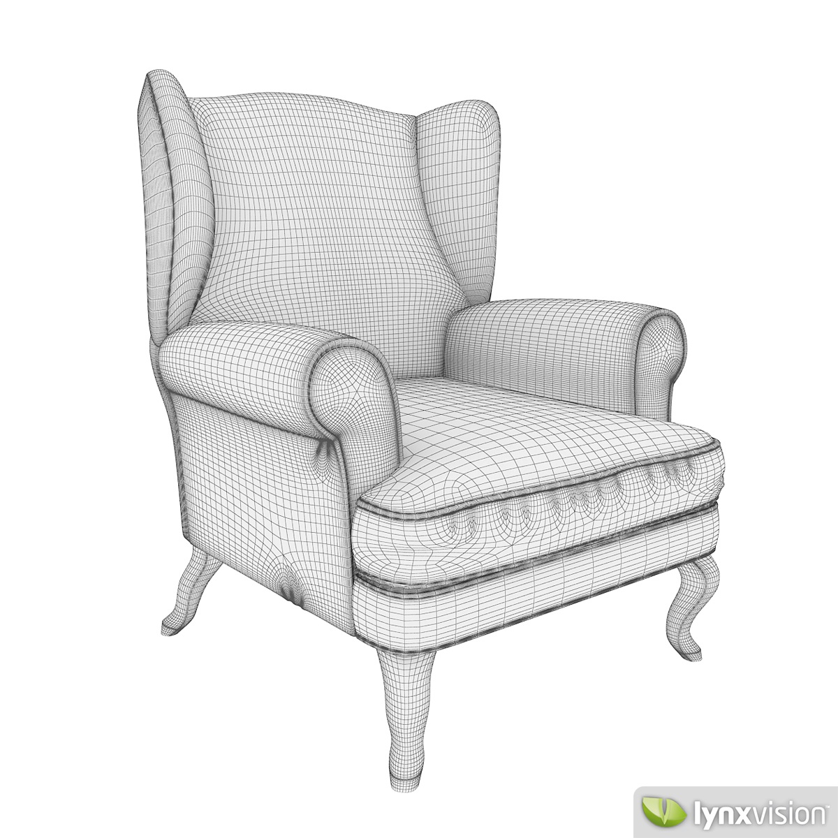 Free Upholstered Armchair Free 3D Model .max .obj .fbx