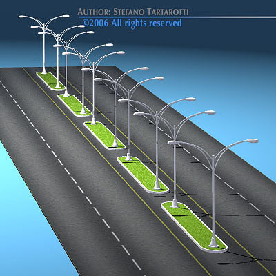 roads set2 3d model obj mtl 3ds c4d dxf 1