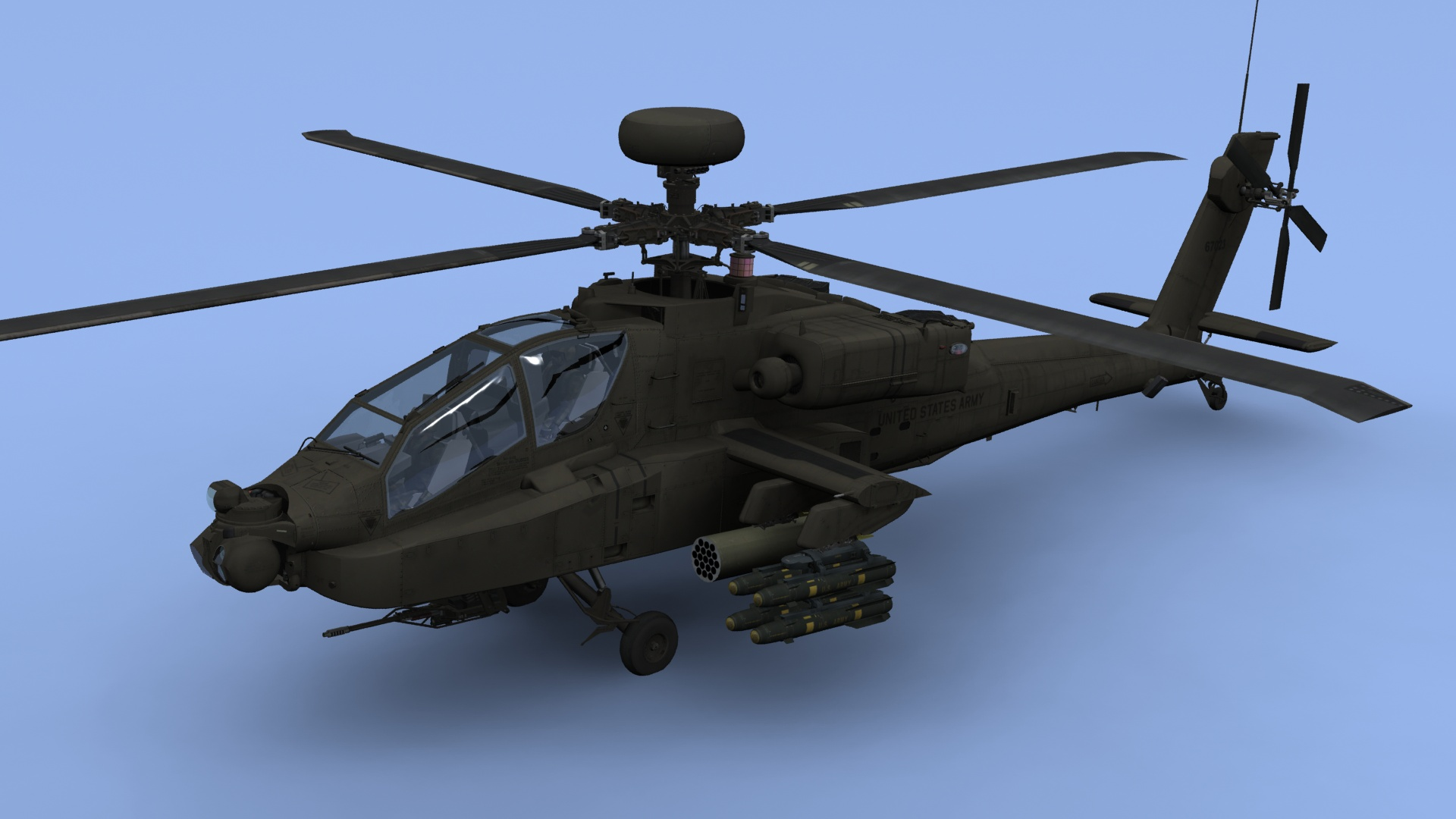 AH64D Apache Longbow US Army Helicopter 3D modelApache Longbow Helicopter