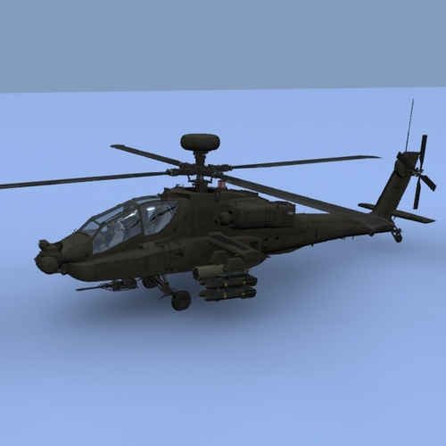 AH64D Apache Longbow US Army Helicopter3D model