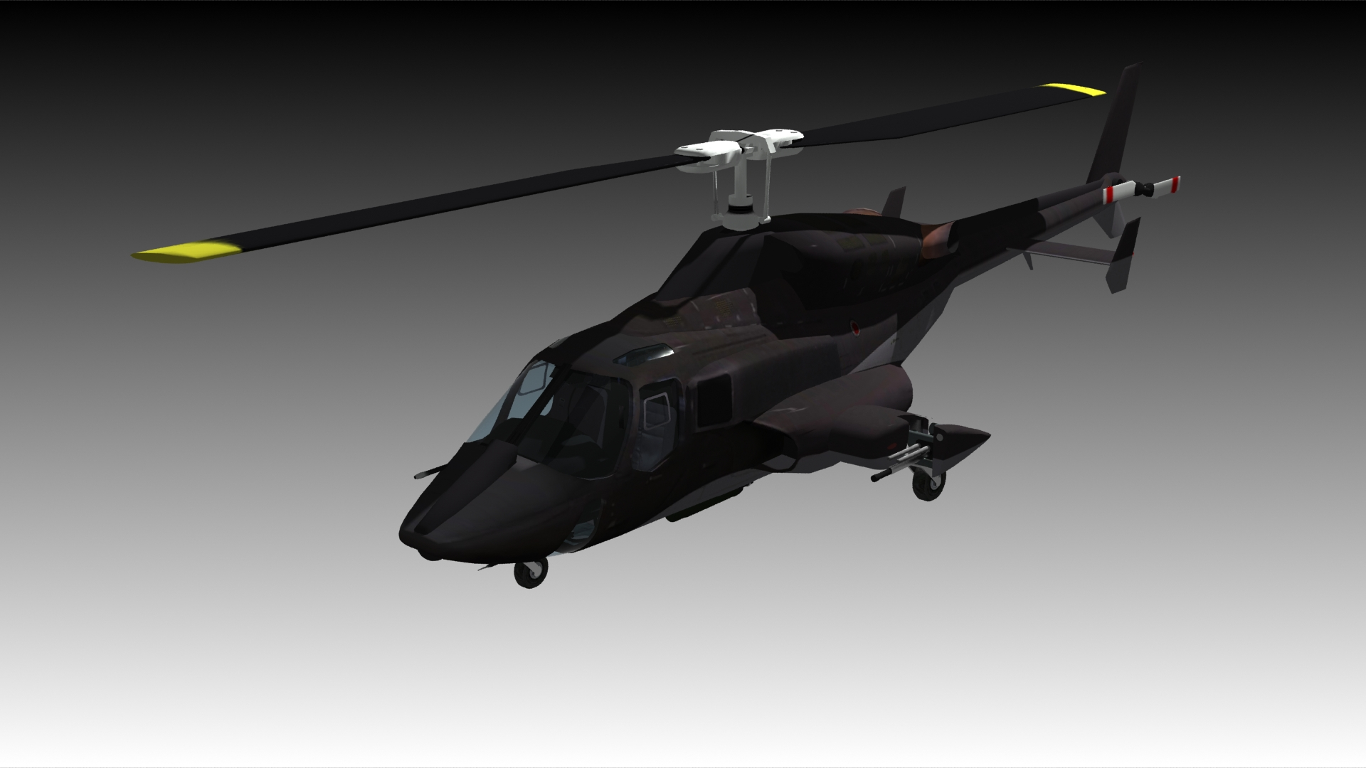 Airwolf Bell 222 Helicopter 3D Model animated rigged .max .fbx .c4d - CGTrader.com